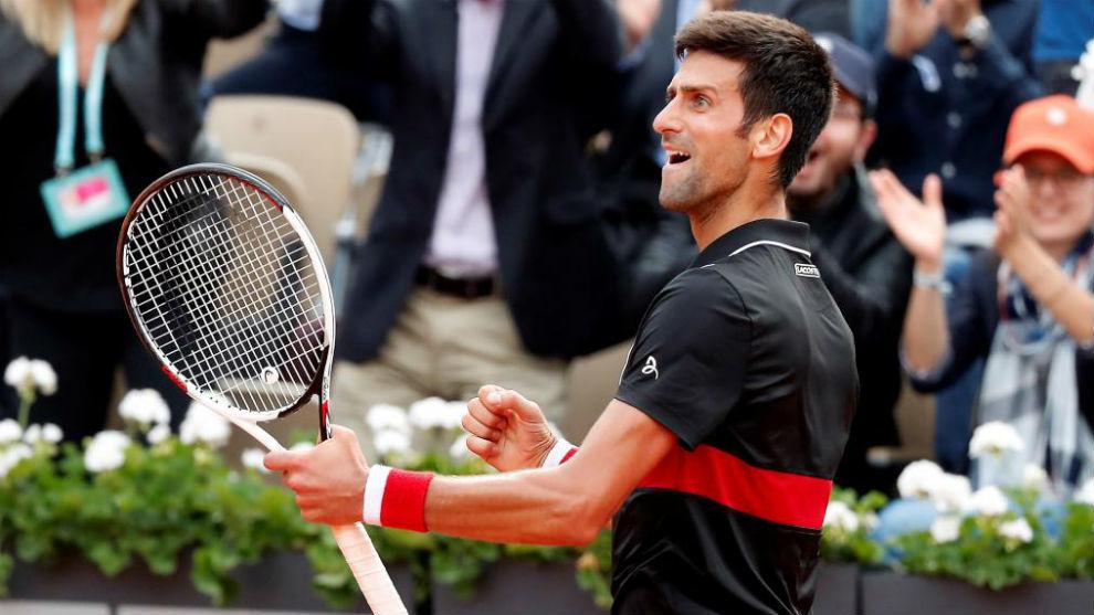 Novak Djokovic celebran una victoria