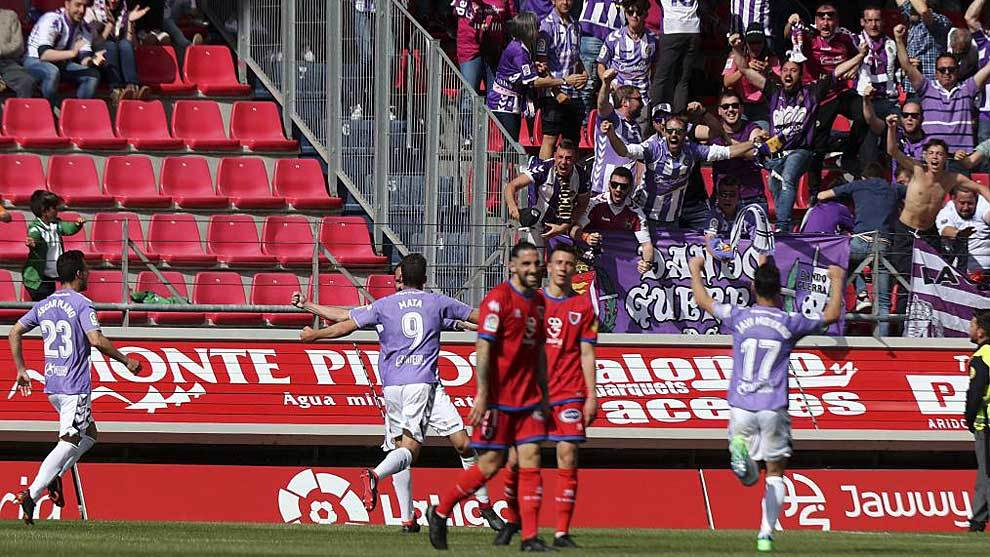 El Valladolid se impuso por la mínima en su última visita a Soria...