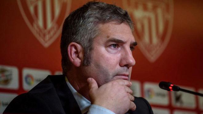 Josu Urrutia durante una comparecencia.