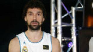 Sergio Llull durante el acto de presentación de la final de la Liga...