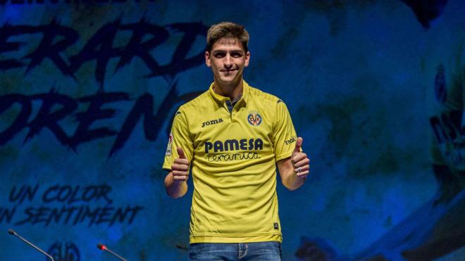 Gerard Moreno, en su presentación como jugador del Villarreal.