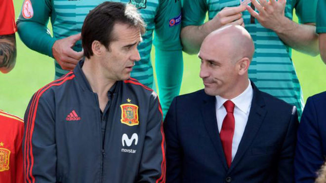 Lopetegui and Rubiales.