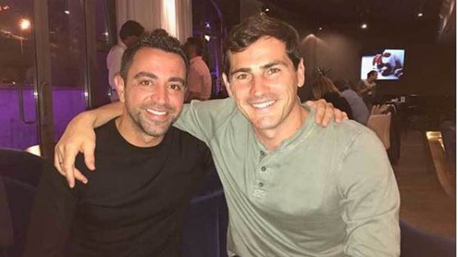 Xavi and Casillas.