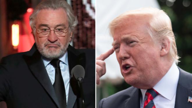 Trump responde a De Niro: Tiene un coeficiente intelectual bajo