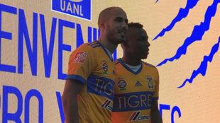 Pizarro, en su presentación con el club mexicano.