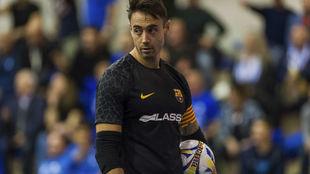 Paco Sedano, durante un partido con el Barcelona Lassa.