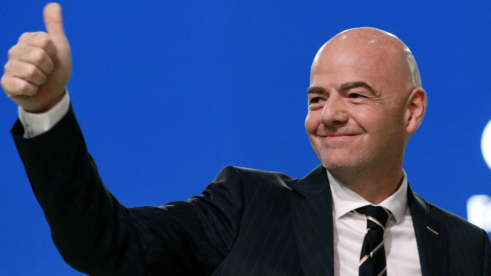 Infantino, durante el Congreso de la FIFA.