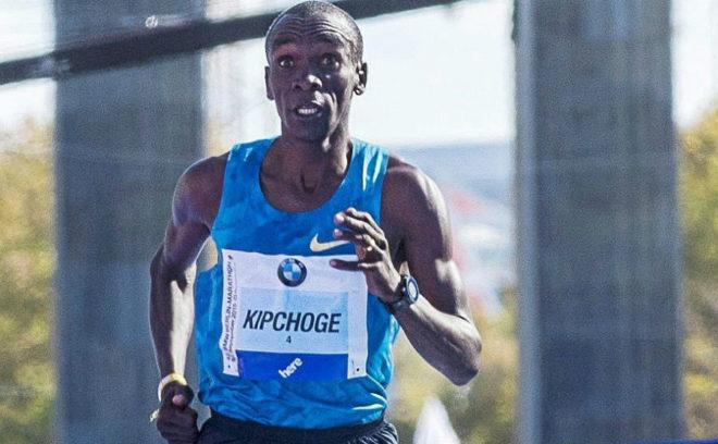 Eliud Kipchoge, en el maratón de Berlín en 2015
