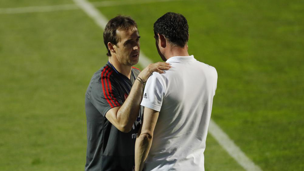 Lopetegui and Hierro.