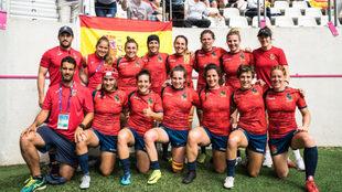 La selección española del Seven que derrotó a Inglaterra en París.