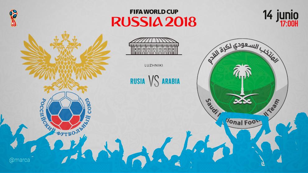 Rusia vence 5-0 a Arabia Saudita en partido inaugural del Mundial