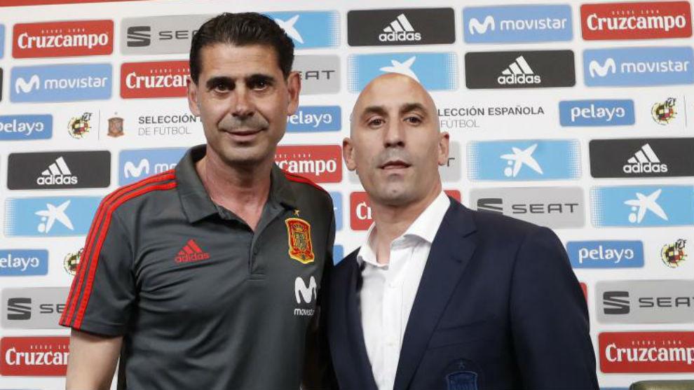 Fernando Hierro and Luis Rubiales