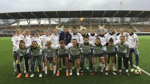 Las jugadoras de la selección posan para MARCA en Helsinki.