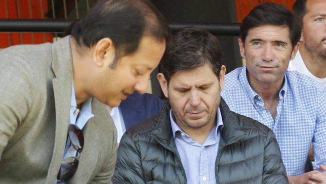 Murthy, Alemany y Marcelino, en Paterna.