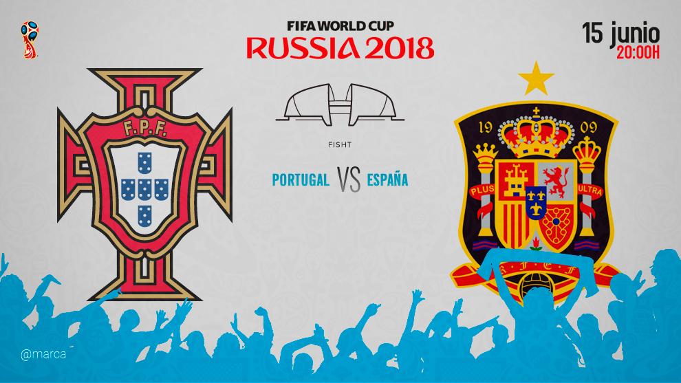 Portugal contra España el 15 de junio a las 20:00, hora peninsular...