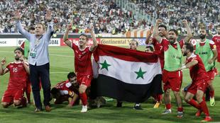 Siria, celebra su clasificación para la última ronda asiática rumbo...
