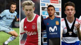 Arthur, De Jong, Thiago y Golovin.