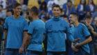 Cristiano Ronaldo durante un entrenamiento del Real Madrid.