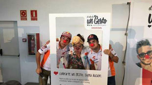 Márquez y Pedrosa, en el acto solidario de Honda en Santa Perpetua