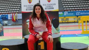 La tiradora Judith Rodríguez, tras un campeonato