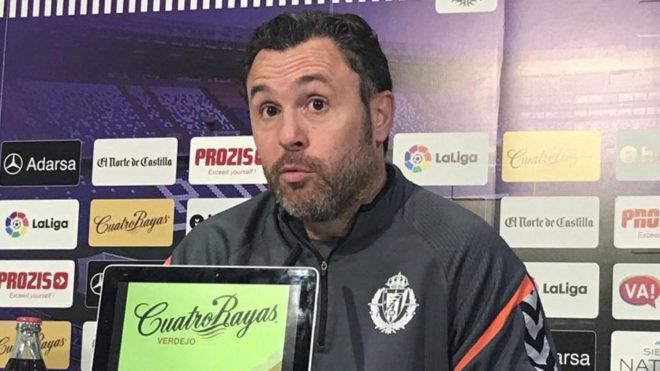 Sergio, en rueda de prensa.