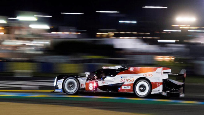 Fernando Alonso durante su participación en las 24 horas de Le Mans.