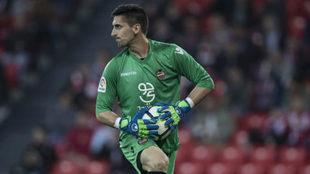 Oier, durante un partido de esta temporada con el Levante.