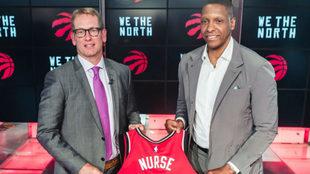 Nick Nurse/Twitter de los Toronto Raptors (@Raptors)