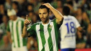 Rubén Castro, durante un Betis-Málaga.
