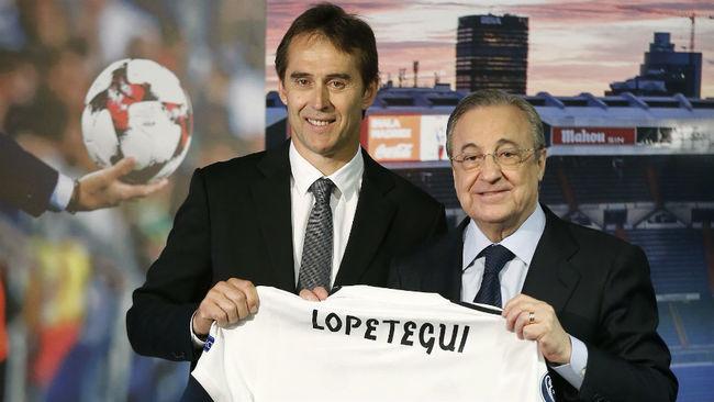Florentino y Lopetegui, en la presentación del técnico.
