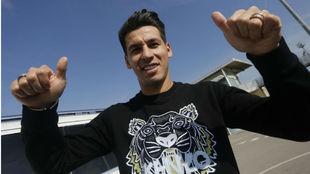 Hernán Pérez posa para MARCA en la Ciudad Deportiva.