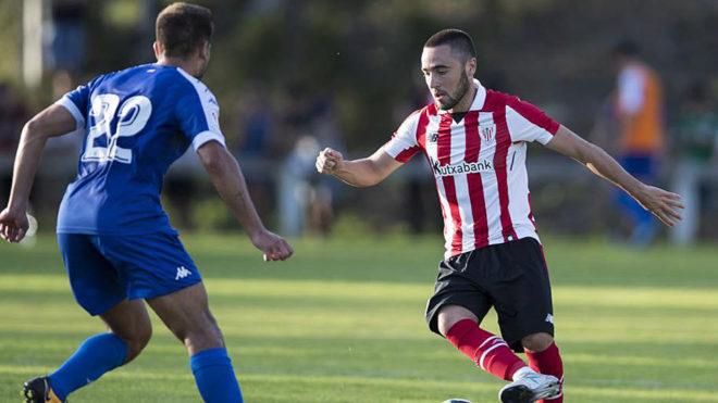 Unai López, en un partido de la pasada pretemporada con el Athletic.
