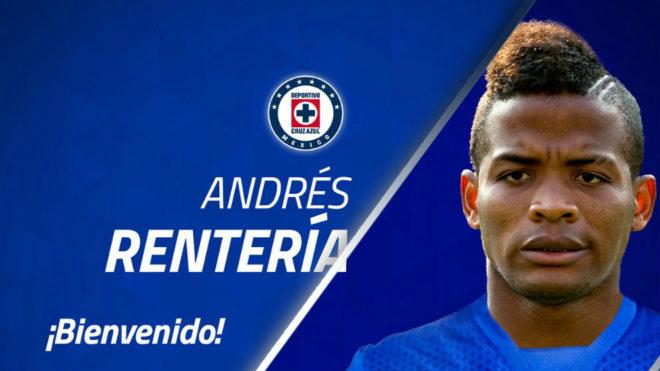 Cruz Azul ficha al colombiano Andrés Rentería para el Apertura 2018