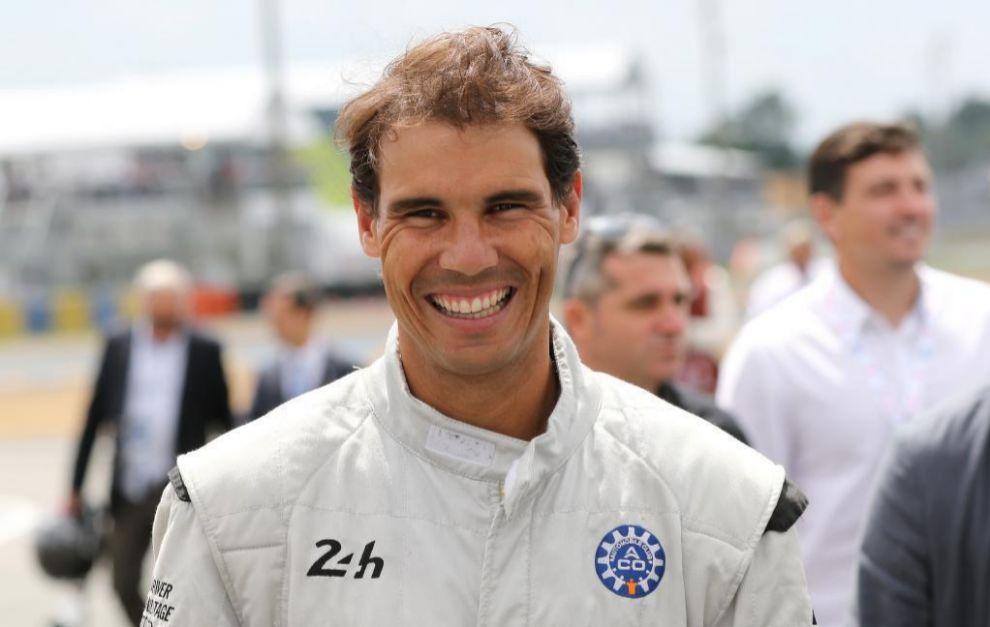 Rafael Nadal, en su visita a Le Mans