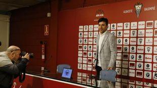 Nico Rodríguez, en sala de prensa