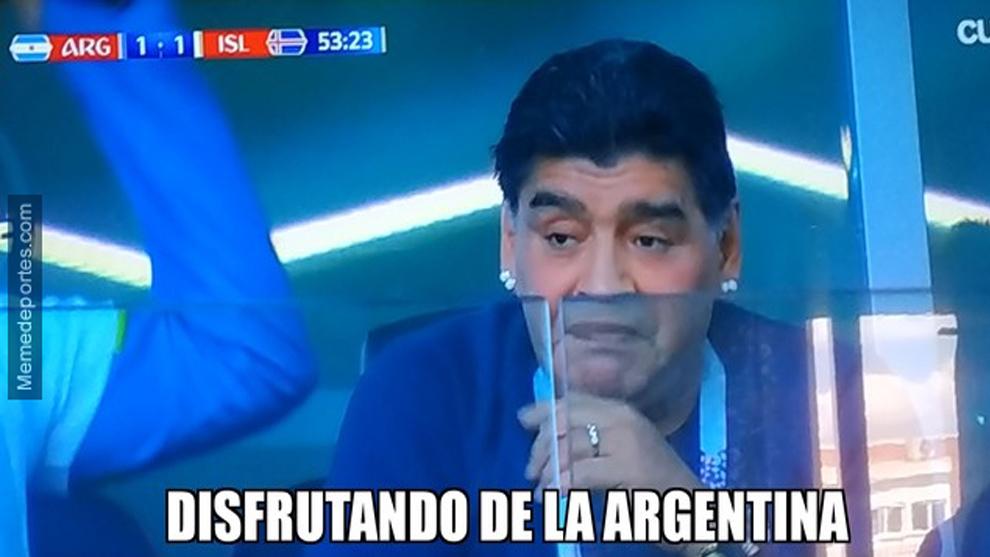 Maradona seems to be enjoying Argentina