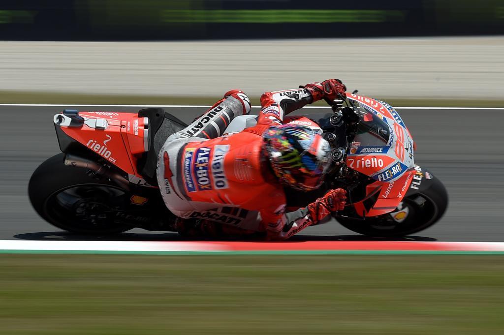 Jorge Lorenzo durante la clasificación del Gp de Catalunya en el...