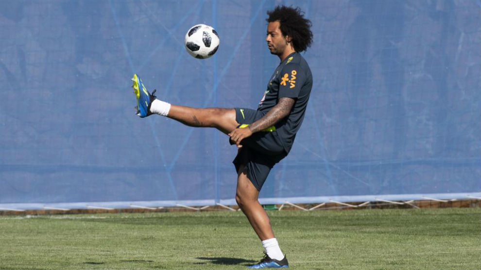 Marcelo in a training session