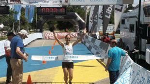 La ganadora femenina, Trinidad Romero.