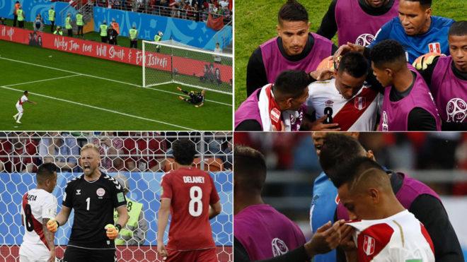 Perú cayó ante Dinamarca en su regreso al mundial