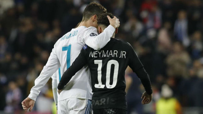Cristiano Ronaldo and Neymar Jr