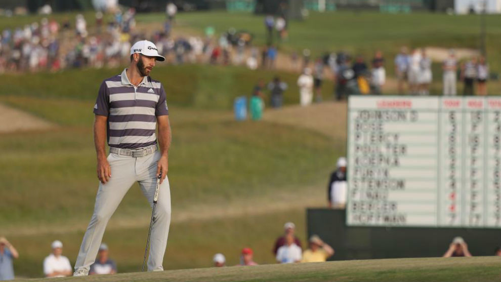 Dustin Johnson, durante la tercera jornada del US Open.