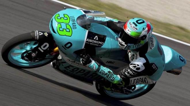 Bastianini, durante la carrera.