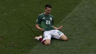 Lozano celebrates.