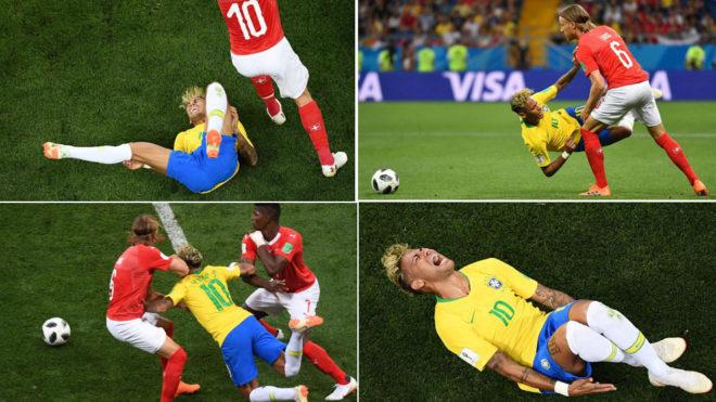 Four Neymar falls