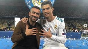 Ricardo Regufe, junto a Cristiano Ronaldo.