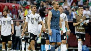Lo alemanes, cabizbajos tras perder con México