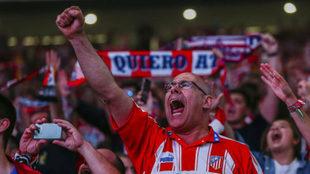 Atletico Madrid fans ready to go again.