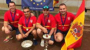 Daniel Guillén, Alexis Acosta, Jordi Martín y Luis Bautista.