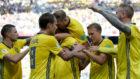Suecia celebra el tanto a Corea del Sur